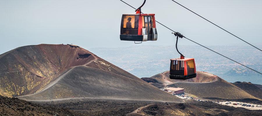 volcan Etna téléphérique